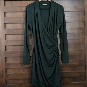 Banana Republic Long Sleeve Faux Wrap Dress